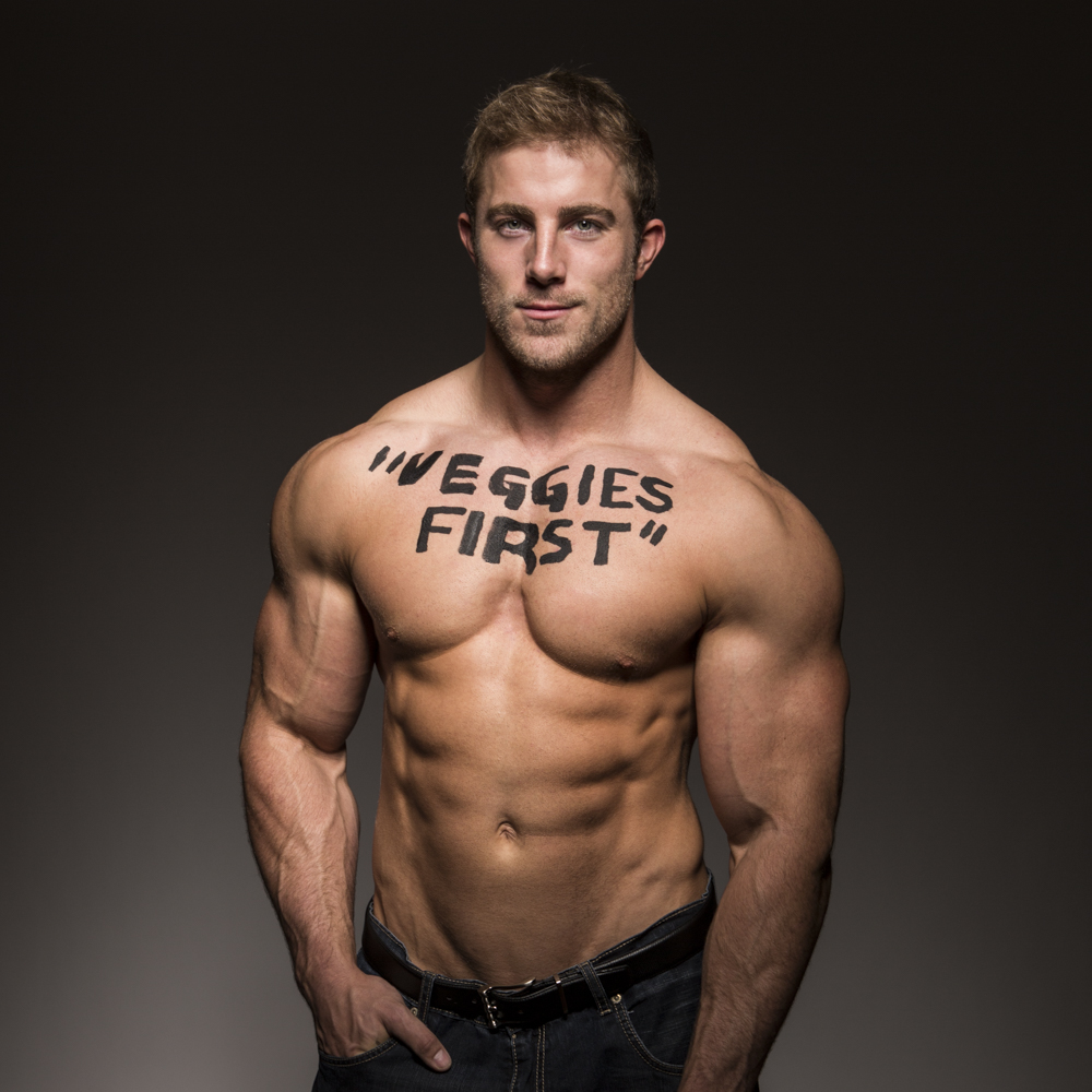 """Ryan's mother is very health conscious.  When he was younger he remembers it was always """"Veggies first"""" before indulging in anything else.  As someone in the fitness industry, his mother's words have stuck with him."""